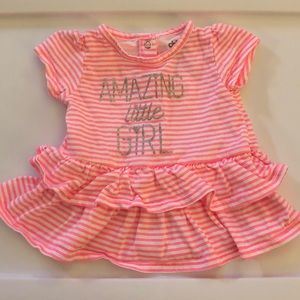 Frilly baby girl top